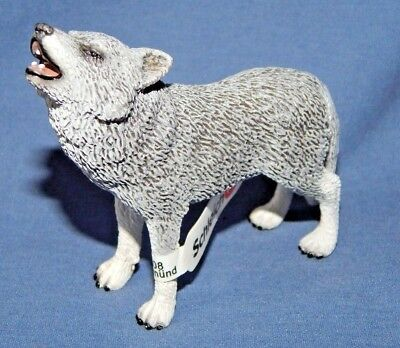 Schleich Wolf Pack Male Retired Wild Life Figure W/Tags 14626