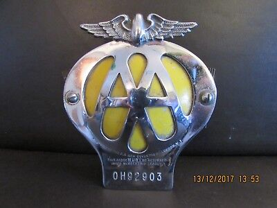 vintage AA badge with fixing bolts no. OH92903