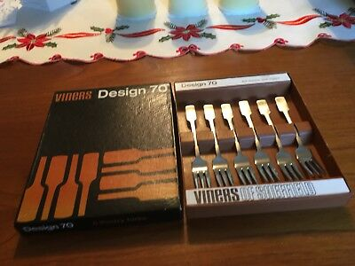 Viners-Design 70 6 Pastry Forks Boxed