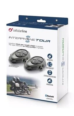 INTERPHONE Cellularline Tour Twin Pack 2 Motorcycle Bluetooth Intercom System