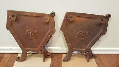 Antique Cast Iron Metal International Harvester Seed Box End Panel Tractor 1712