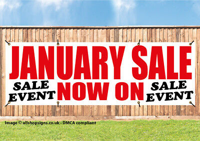 JANUARY SALE NOW ON SHOP SIGN BANNER OUTDOOR POSTER waterproof PVC with Eyelets