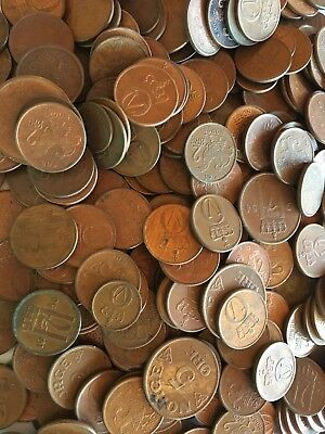 Norway Coin Kiloware 300 Gram Copper Øre From Estate, Free S/H Included