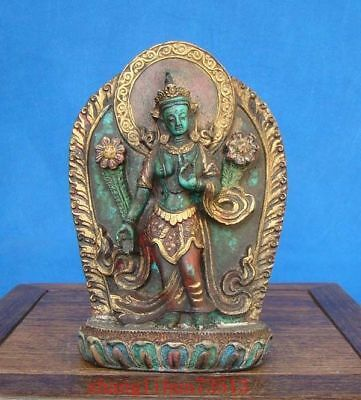 Collectible Handmade Carving Statue Buddha Turquoise India Religion