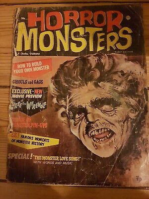 Horror Monsters magazine 1st edition 1961