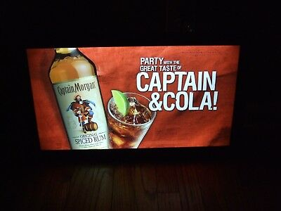 Captain Morgan And Soda Led Bar Sign Man Cave Garage New Light
