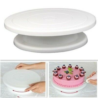 27.5cm Kitchen Cake Decorating Icing Rotating Turntable Plastic Baking Tools