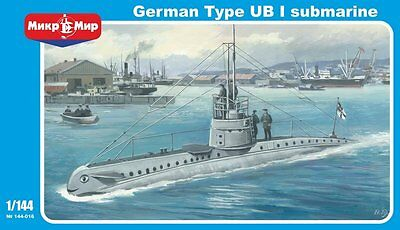 1:144 Mikro Mir #144-016 German Type UB I submarine with PEP NEW!