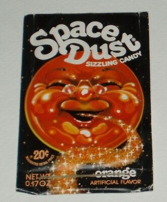 1970's Orange Space Dust candy package