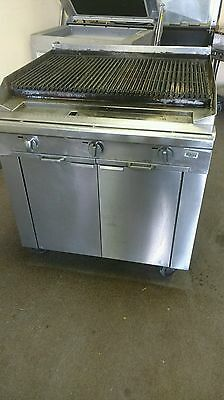 """Blodgett 36"""" Commercial Stainless Steel Charbroiler Char Broil Grill Natural Gas"""