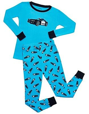 "Leveret ""Police Car"" 2 Piece Pajama 100% Cotton (Size 12M-14 Years)"