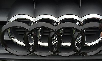 Audi Ringe A6 C7 4G Vorfacelift blacked out Emblem Badge Cover 2010-2014 schwarz
