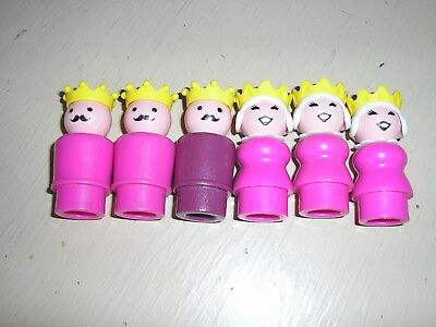 Vintage Fisher Price Little People King And Queen Plastic (6)