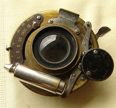 Vintage Brass BAUSCH LOMB Optical Rapid Rectilinear shutter Camera Lens antique