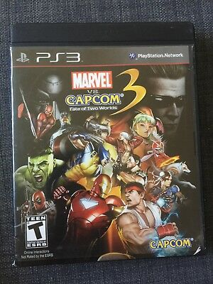 REPLACEMENT CASE-(No Game) PS3 MARVEL VS CAPCOM 3 FATE OF TWO WORLDS