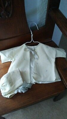 Vintage 1940's Baby Jacket and Bonnet Newborn Fully Lined