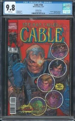 Cable #150 Cgc 9.8 Nm/mt Lenticular Cover New Mutants 87 Rob Liefeld