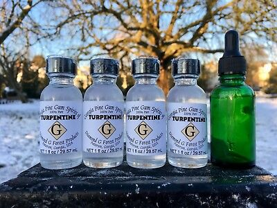 4 Bottles of 100% Pure Gum Spirits of Turpentine (Organic) by Diamond G Forest