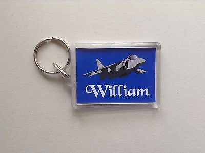 Personalised Keyring/ Bag ID  - Fighter Jet  Design