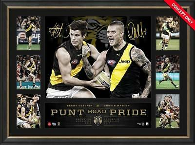 Richmond Dustin Martin Trent Cotchin Signed Print Framed Brownlow 2017 Premiers