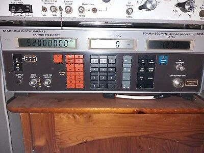 MARCONI 2018A PROFESSIONAL SIGNAL GENERATOR Working Order 80khz to 520 mhz
