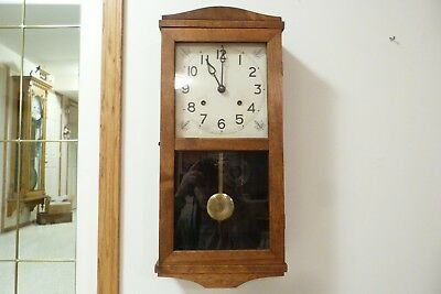 Pequegnat Ideal Time And Strike Wall Clock