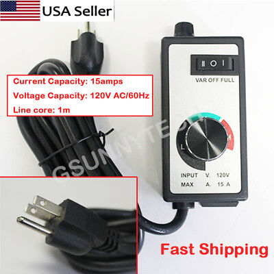Newest AC 120V For Router Fan Variable Speed Controller Electric Motor Rheostat