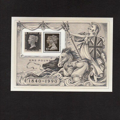 1990 Penny Black Mini Sheet Ms 1501 Unmounted Mint & In Excellent Condition