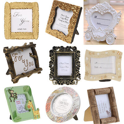 Resin Stand Photo Picture Frame Table Decoration Wedding Favor Baby Shower