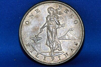 1904-S Philippines One Peso Silver Coin