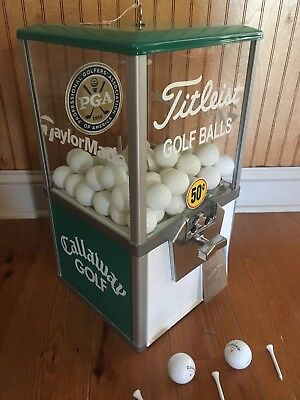 Vintage-Antique 50 Cent Northwestern Golf Ball Coin Operated Vending Machine