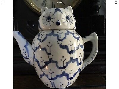 Cute Hand painted Antique Owl Chinese Small Teapot FreeUKPostage