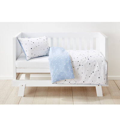 Baby Bedding REVERSIBLE QUILT COVER SET Cot Bed Cotton Nursery Kids Boys Girls
