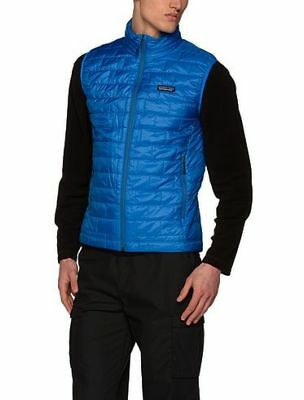 (Small, Andes Blue) - Patagonia Men's Nano Puff Vest. Free Delivery