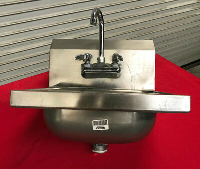Wall Mount Hand Wash Sink with Faucet #7571 Commercial Restaurant Washing NSF