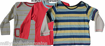 New Baby Boys Marks & Spencer Blue Red Yellow White Tops X 3 Age 6 - 9 Months