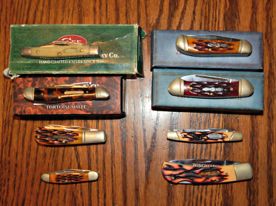 Lot of 8 Knives - Case XX, Rough Rider, Marble's, & Winchester