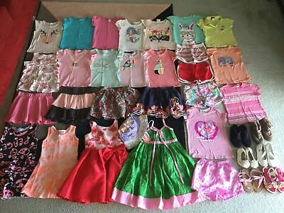 Bulk lot girls sz 4 summer clothes Plus Shoes Minnie Target Sesame Street