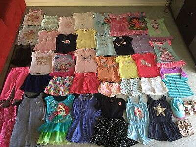 Bulk lot girls sz 4 summer clothes shoes Bardot Little Mermaid CottoOn Pawpatrol