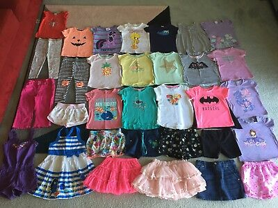 Bulk lot girls sz 3 summer clothes Finding Dory Batgirl Tweety My Little Pony