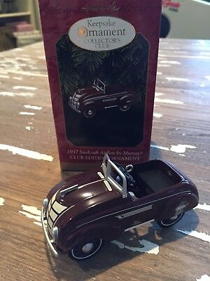 1997 HALLMARK 1937 Steelcraft Airflow by Murray Club Edition Ornament NIB