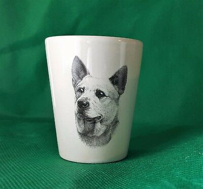 Australian Cattle Dog Shot Glass Vladimir Tzenov Rosalinde Xmas Gift Dog