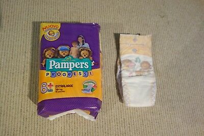 Pampers XXL non vintage diapers FULL CASE  VERY RARE