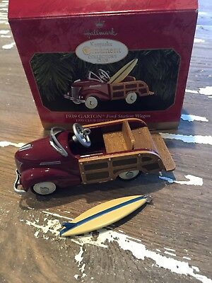1999 HALLMARK Ornament 1939 Garton  Ford Station Wagon Club Edition Ornament NIB