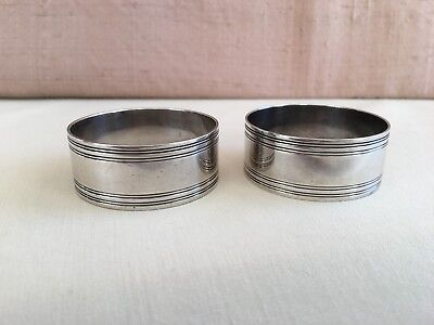 Vintage 2 Tiffany & Co Sterling Silver Napkin Rings