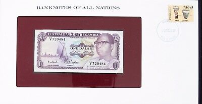 GAMBIA  1971 - ONE DALASI - P4f - CU - BANKNOTES OF ALL NATIONS 7346