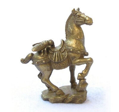 Small Collectibles Brass Fly&Horse Statues free shipping