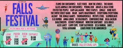 Byron Bay Falls Festival tickets for less than cost price