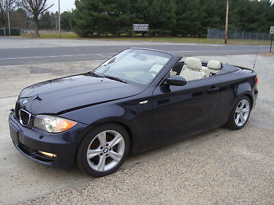 2008 Bmw 1 Series 128i Convertible Navigation Salvage Rebuildable