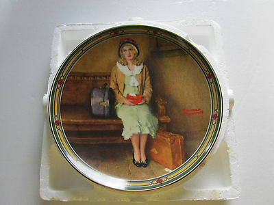 """Normal Rockwell's 1985 Knowles Chine plate;  """"A Young Girls Dream""""; First Issue"""